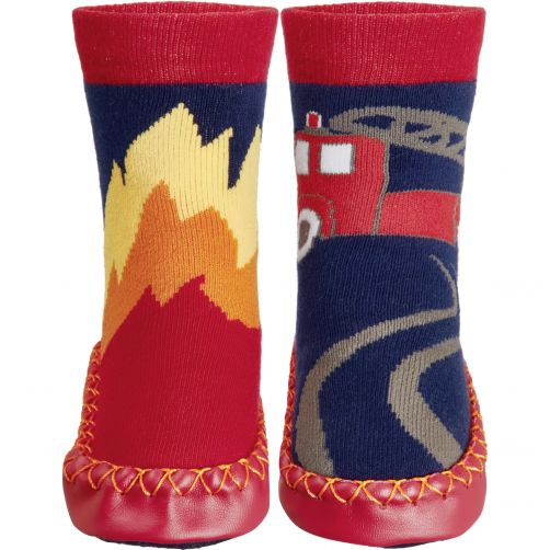 Playshoes---Home-shoes-for-kids---Firefighter---Blue