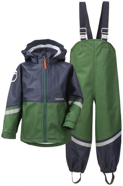 Didriksons---Rain-suit-for-children---Waterman---Green/Darkblue