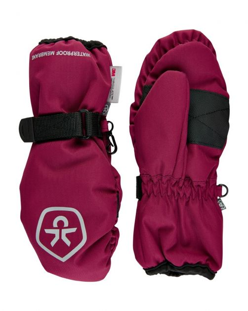 Color-Kids---Waterproof-mittens-for-children---Beet-Red