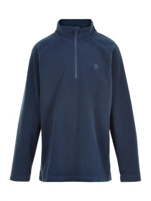 Color-Kids---Fleece-pullover-with-half-zip-for-children---Solid---Dark-blue