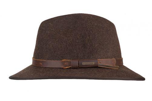 Hatland---Wool-hat-for-men---Woodstock---Brown