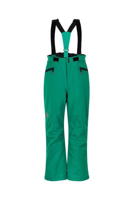 Color-Kids---Ski-pants-with-pockets-for-children---Solid---Golf-Green