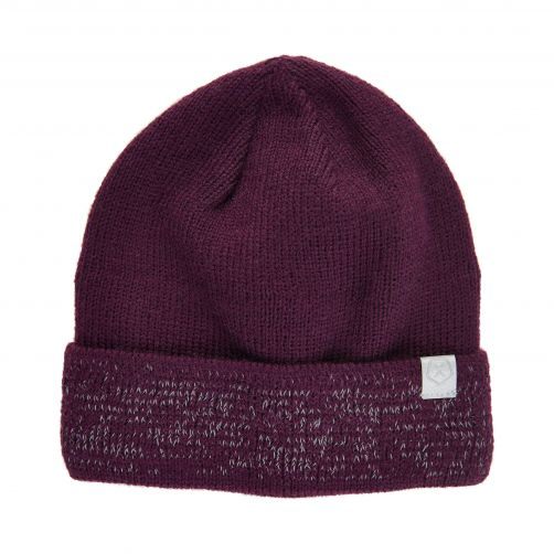 Color-Kids---Beanie-with-reflective-knitting-for-children---Potent-Purple