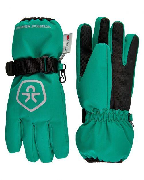 Color-Kids---Waterproof-gloves-for-children---Golf-Green