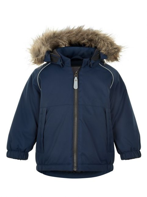Color-Kids---Parka-jacket-for-baby-boys---Solid---Dark-blue