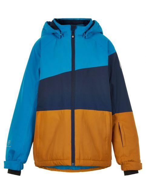 Color-Kids---Ski-jacket-for-boys---Colorblock---Surf-Blue/Dark-Blue/Honey