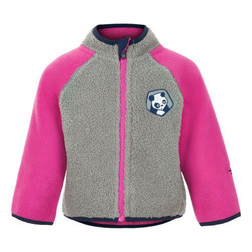 Color-Kids---Fleece-jacket-for-babies---Colorblock---Grey/Pink