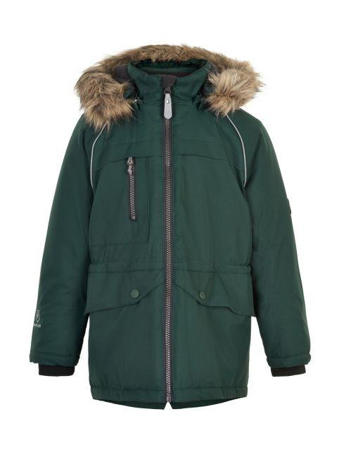 Color-Kids---Parka-jacket-for-children---Fake-fur---Gables-Green
