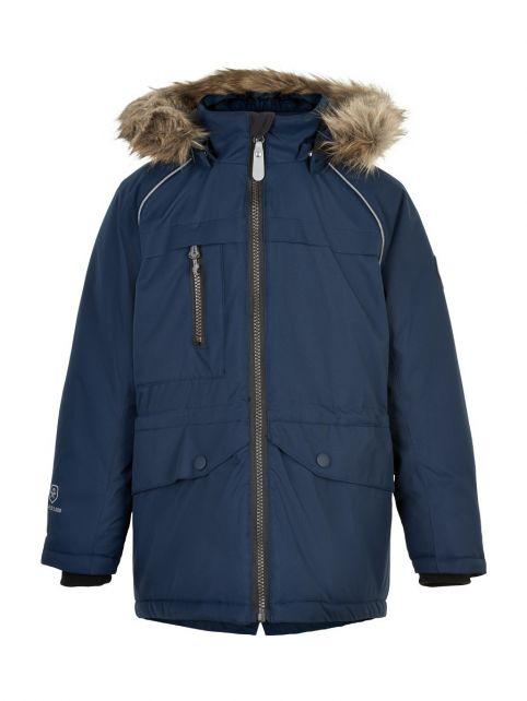 Color-Kids---Parka-jacket-for-children---Fake-fur---Dark-blue