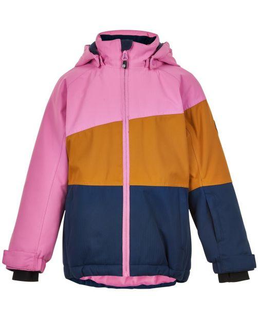 Color-Kids---Ski-jacket-for-girls---Colorblock---Pink/Honey/Dark-blue