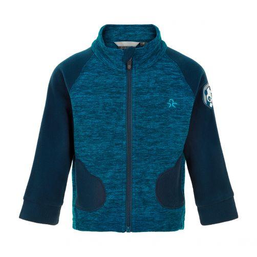 Color-Kids---Fleece-jacket-for-babies---Mittens---Dark-Blue