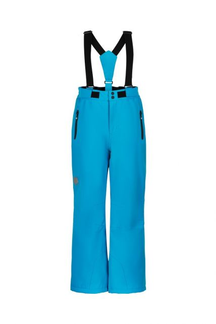Color-Kids---Ski-pants-with-slim-fit-for-children---Solid---Cyan-Blue