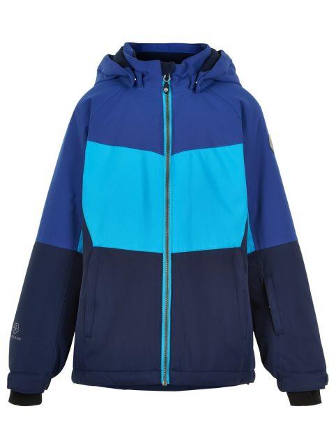 Color-Kids---Ski-jacket-for-girls---Colorblock---Cyan-Blue