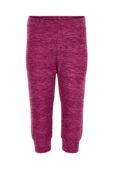 Color-Kids---Fleece-pants-for-babies---Melange---Beet-Red