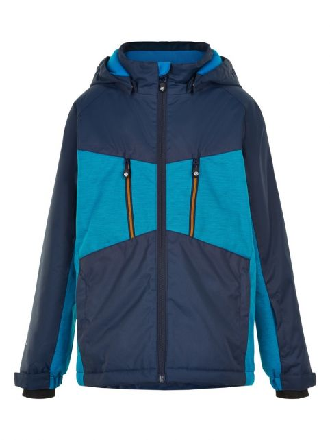 Color-Kids---Ski-jacket-for-boys---Melange---Surf-Blue
