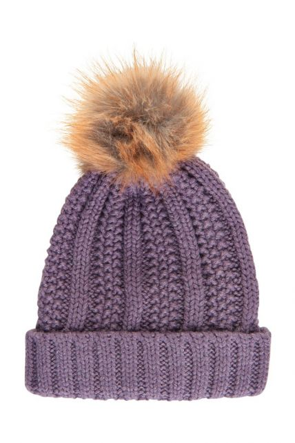 Color-Kids---Reflective-beanie-for-children---Cable-Knit---Artic-Dusk
