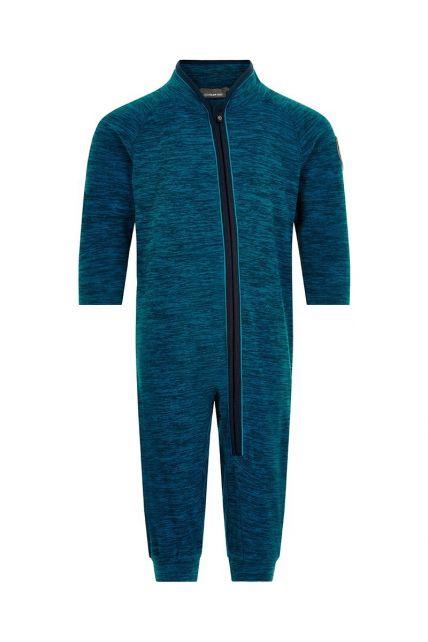 Color-Kids---Fleece-overall-for-babies---Melange---Dark-blue