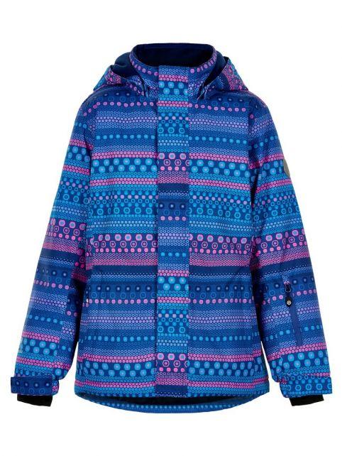 Color-Kids---Ski-jacket-for-girls---AOP---Galaxy-Blue/Multi