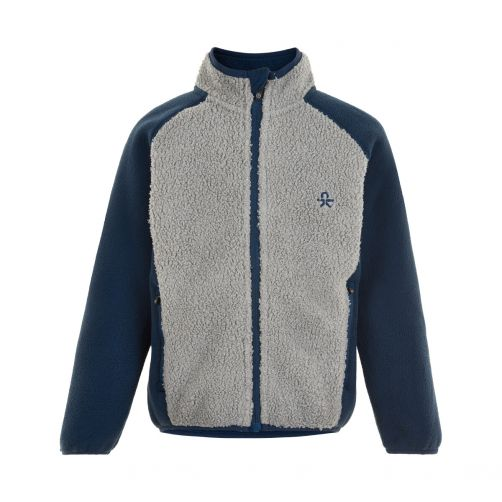 Color-Kids---Fleece-jacket-for-children---Colorblock---Grey/Dark-blue