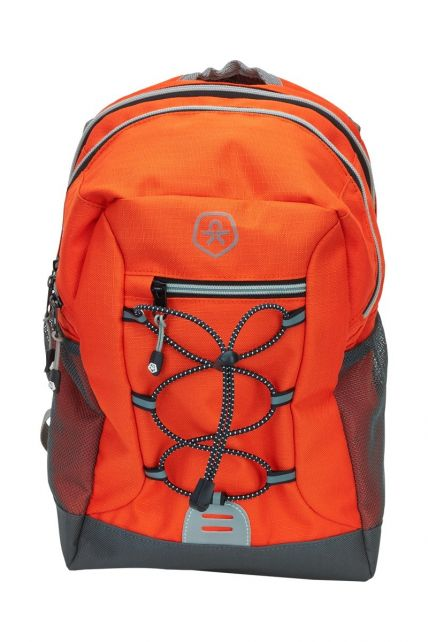 Color-Kids---Backpack-with-front-elastic---Ribstop---Red