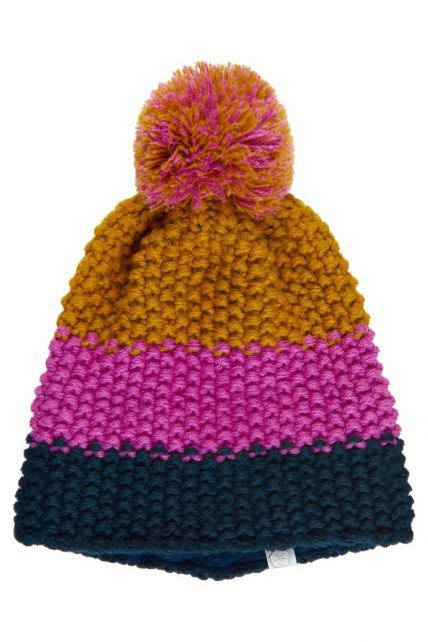 Color-Kids---Beanie-for-children---Stripes---Rose-Violet