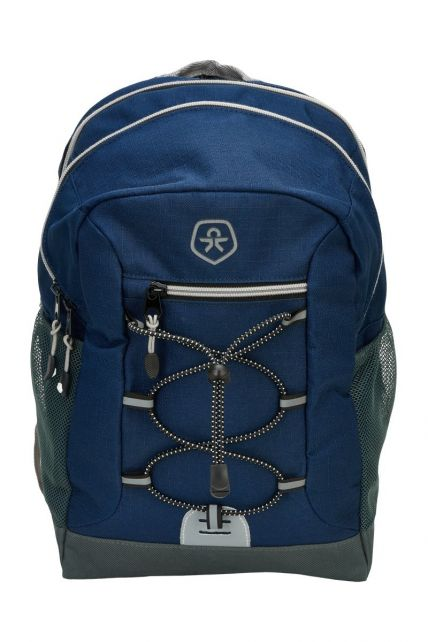 Color-Kids---Backpack-with-front-elastic---Ribstop---Dark-blue