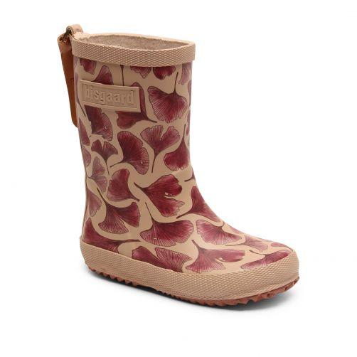 Bisgaard---Rain-boots-for-kids---Fashion---Bordeaux-Leaves
