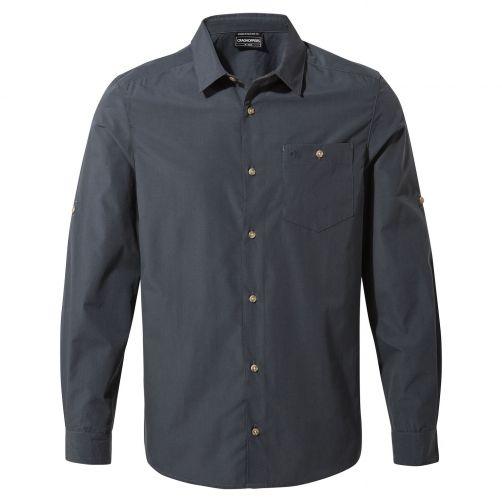 Craghoppers---UV-Shirt-for-men---Longsleeve---Kiwi-Ridge---Steel-Blue