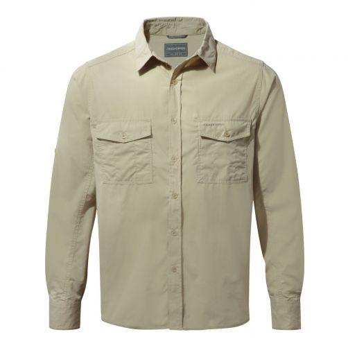 Craghoppers---UV-Shirt-for-men---Longsleeve---Kiwi---Oatmeal