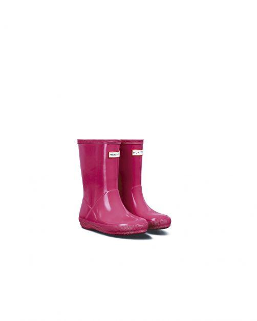 Hunter---Rainboots-for-children---Kids-First-Classic-Gloss---Bright-Pink