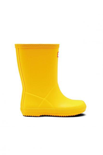 Hunter---Rainboots-for-children---Kids-First-Classic---Yellow