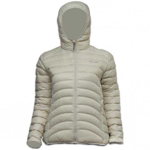 Lowland-Outdoor---Duck-down-filled-winter-jacket-for-woman---Hoody---Bone