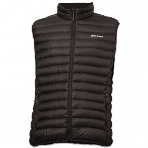 Lowland-Outdoor---Duck-down-filled-bodywarmer-for-adults---Optimun---Black