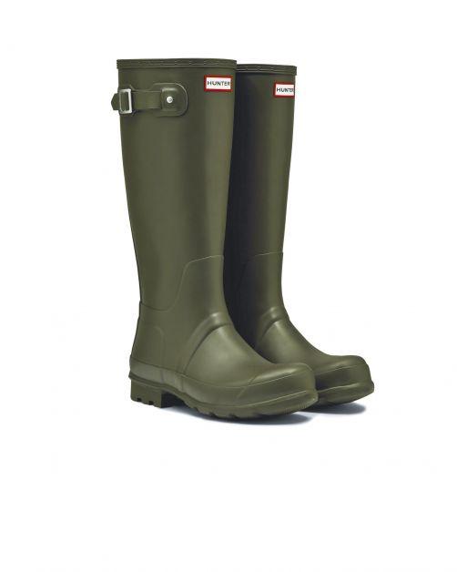 Hunter---Rainboots-for-men---Original-Tall-Wellington---Dark-Olive