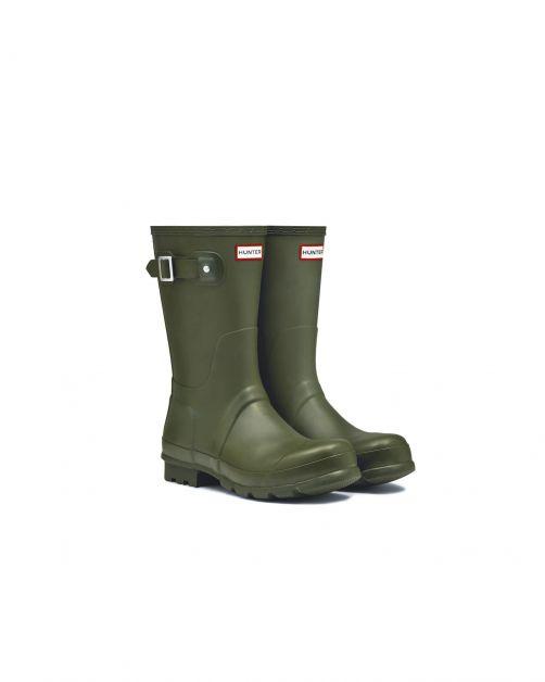 Hunter---Rainboots-for-men---Original-Short---Dark-Olive