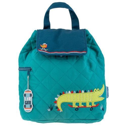Stephen-Joseph---Quilted-backpack-for-kids---Alligator