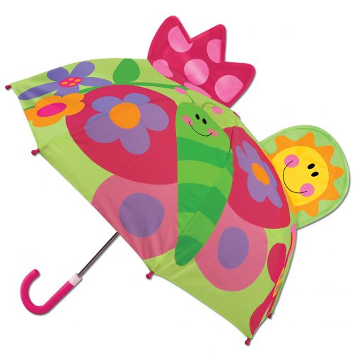 Stephen-Joseph---Pop-up-umbrella-for-children---Butterfly---Green