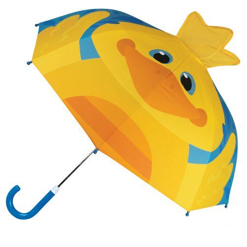 Stephen-Joseph---Pop-up-umbrella-for-children---Duck---Blue