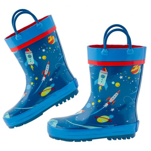 Stephen-Joseph---Rainboots-for-boys---Space---Dark-blue/blue