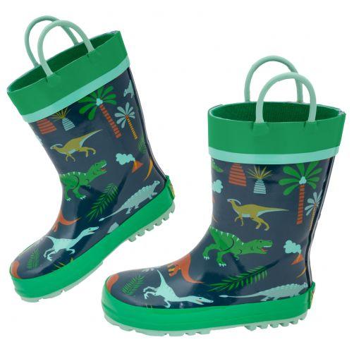 Stephen-Joseph---Rainboots-for-boys---Dino---Dark-blue/Green