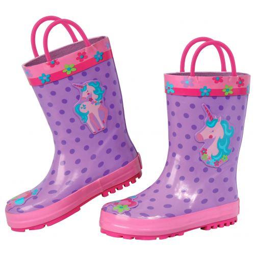 Stephen-Joseph---Rainboots-for-girls---Unicorn---Lila/Pink
