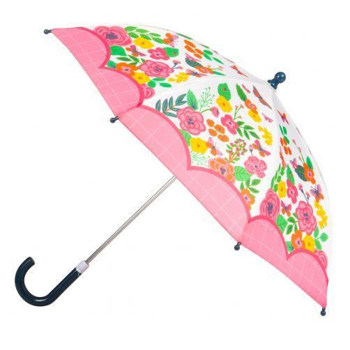 Stephen-Joseph---Umbrella-for-girls---Butterfly---Off-white/Pink
