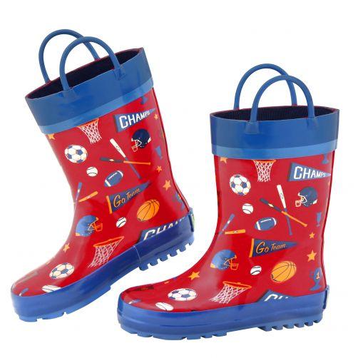 Stephen-Joseph---Rainboots-for-boys---Sports---Red/Blue