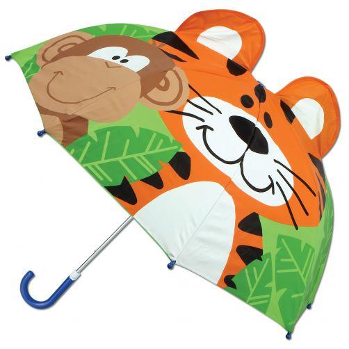 Stephen-Joseph---Pop-up-umbrella-for-children---ZOO---Green