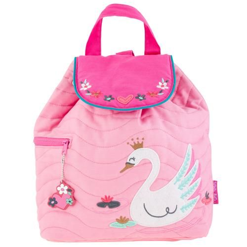 Stephen-Joseph---Quilted-backpack-for-kids---Swan