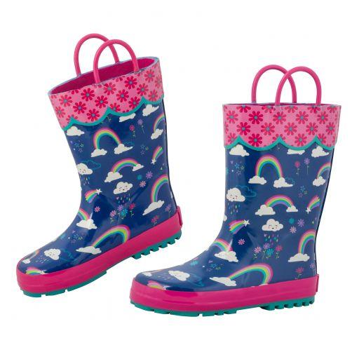 Stephen-Joseph---Rainboots-for-girls---Rainbow---Dark-blue/Pink