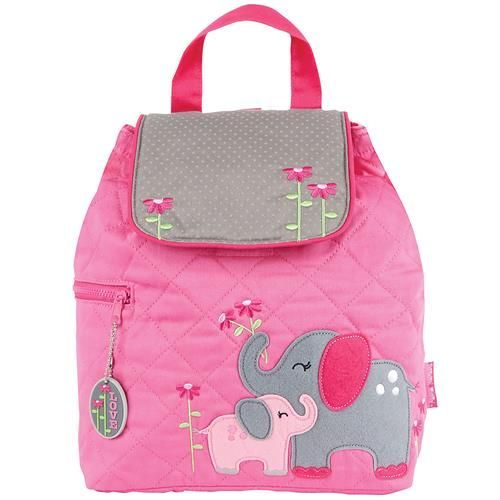 Stephen-Joseph---Quilted-backpack-for-kids---Elephant