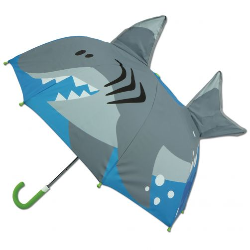 Stephen-Joseph---Pop-up-umbrella-for-boys---Shark---Blue