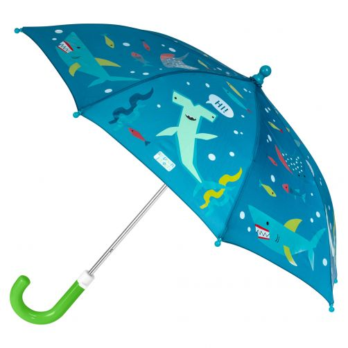 Stephen-Joseph---Color-changing-umbrella-for-boys---Shark---Dark-blue