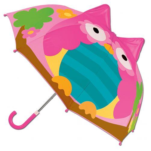 Stephen-Joseph---Pop-up-umbrella-for-girls---Owl---Pink